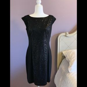 America living black sequins dress
